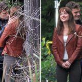 """15. Oktober 2014: Jamie Dornan und Dakota Johnson drehen für """"Fifty Shades of Grey'"""" eine Kussszene im Stanley Park in Vancouver."""