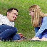 """30. August 2014: James Franco und Emma Roberts turteln beim Picknick im Grünen. Allerdings stehen sie gemeinsam für den Film """"Michael"""" vor der Kamera."""