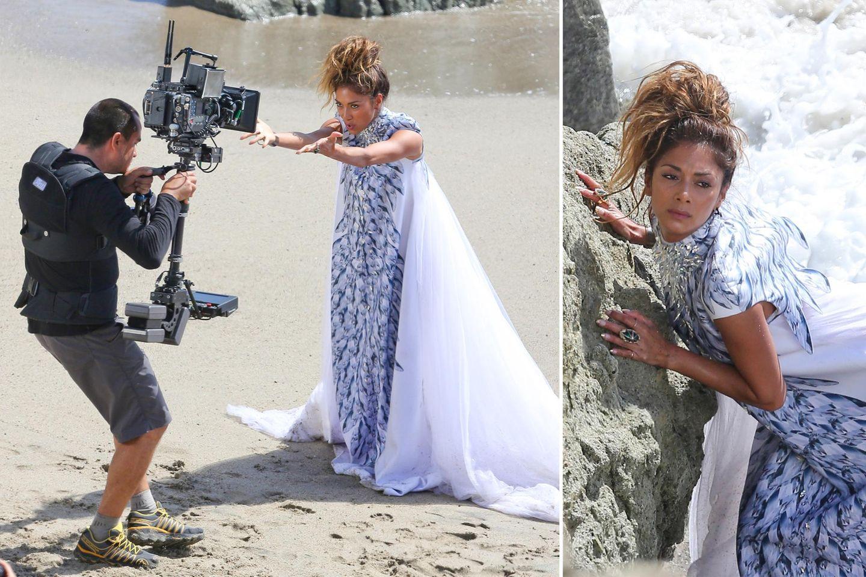 19. Mai 2014: Nicole Scherzinger dreht am Strand von Malibu ihr neues Musikvideo.