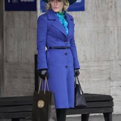 """16. Dezember 2014: Gillian Anderson ist hier zu sehen bei dem Dreh der Serie """"Hannibal""""."""