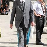 """1. Juli 2014: Sir Michael Caine steht in Venedig für den Film """"Youth"""" vor der Kamera."""