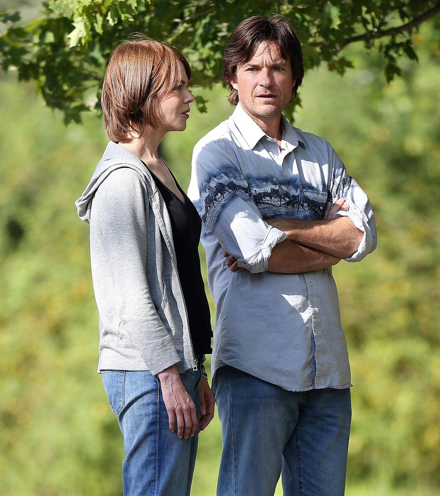 """15. August 2014: Nicole Kidman und Jason Bateman drehen gemeinsam """"The Family Fang"""" in New York City."""