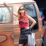 """30. Juli 2014: Kate Walsh filmt in Los Angeles eine Szene für ihre neue Serie """"Bad Judge""""."""