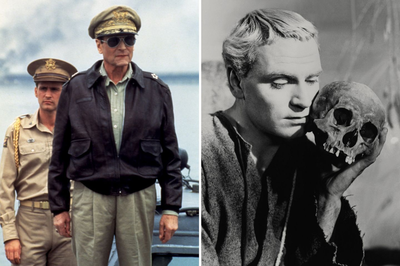 """Laurence Olivier  1949 wir Laurence Olivier als bester Hauptdarsteller für seine Rolle des """"Hamlet"""" geehrt. 1983 folgt der Negativpreis als schlechtester Schauspieler in """"Inchon""""."""