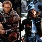 """Kevin Costner  Mit dem Film """"Der mit dem Wolf tanzt"""" gewinnt Kevin Costner 1990 bei den Oscars in den Kategorien Produzent für den besten Film und bester Regisseur und ist sogar als bester Hauptdarsteller nominiert. Nur zwei Jahre später wird er als schlechtester Schauspieler für seine Rolle in """"Robin Hood - König der Diebe"""" mit einer Goldenen Himbeere ausgezeichnet."""
