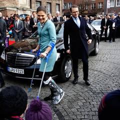 Tag 2  Am nächsten Morgen besuchen Prinzessin Victoria und Prinz Daniel die Firma Ericsson in Düsseldorf.