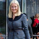 "5. Mai 2014: Kronprinzessin Mette-Marit besucht den Umweltvortrag ""Generasjon Grønn"" (Generation Grün) an der Rommen Schule in Oslo."
