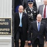 """30. Juni 2014: Fürst Albert von Monaco geht zu einem """"Hydrographic and Oceanographic Service""""-Treffen im chilenischen Valparaiso."""
