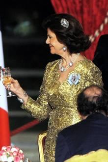 2. Dezember 2014: Ab Abend sind König Carl Gustaf und Königin Silvia im Elysee Palast zu einem Staatsbankett mit dem fanzösischen Präsidenten François Hollande.
