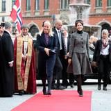 9. Mai 2014: Zum Gedenken an die Schlacht von Helgoland vor 150 Jahren ist Prinzessin Mary ins norwegische Kristiansand gekommen, um gemeinsam mit Prinzessin Mette-Marit an einem Gottesdienst teilzunehmen.