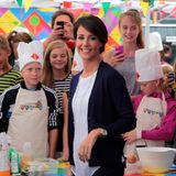 """26. August 2014: Prinzessin Marie nimmt an der Veranstaltung """"Cooking Kids"""" im Kopenhagen teil."""