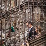 25. Juli 2014: König Felipe und Königin Letizia sind auf dem Weg zur Messe in der Kathedrale von Santiago de Compostela.