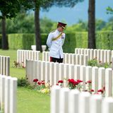 19. Mai 2014: Prinz Harry besucht das Commonwealth War Cemetery im italienischen Cassino.