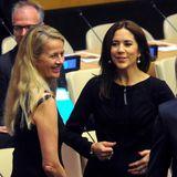 22. September 2014: Prinzessin Mary trifft bei einer UN-Veranstaltung in New York Prinzessin Mabel.