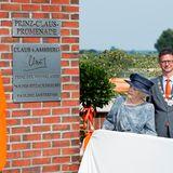 5. September 2014: Prinzessin Beatrix eröffnet in Hitzacker die Prinz-Claus-Promenade, die an ihren verstorbenen Mann erinnert.