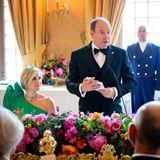 """3. Juni 2014: Fürst Albert von Monaco stattet Königin Máxima und König Willem-Alexander einen Besuch in den Niderlanden ab. Im """"Het Loo Palast"""" in Apeldoorn findet mit Prinzessin Beatrix und dem Monegassen ein Dinner statt."""