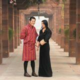 9. Januar 2014: Der König und die Königin von Bhutan sind auf Staatsbesuch in Indien.