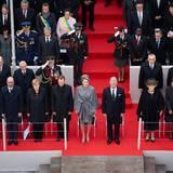 28. Oktober 2014: Großherzog Henri (5.v.l, 1. Reihe), das belgische Königspaar und Prinzessin Beatrix nehmen an einer Gedenkveranstaltung zum Ersten Weltkrieg in Belgien teil. Auch Bundeskanzlerin Angela Merkel ist dabei.