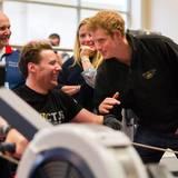 29. April 2014: Prinz Harry besucht ein Trainingszentrum für Kriegsveteranen im englischen Tidworth.
