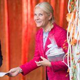 """27. August 2014: Prinzessin Mette-Marit eröffnet das """"Björnson-Literaturfestival"""" in Molde."""