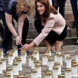 """3. Mai 2014: Prinzessin Mary zündet eine Kerze am """"Nyrernes Dag"""" (Nierentag) in Kopenhagen an."""