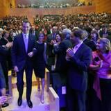 """26. Juni 2014: Ihr erster Termin als Königspaar: König Felipe und Königin Letizia besuchen die """"Girona Foundation Awards""""."""