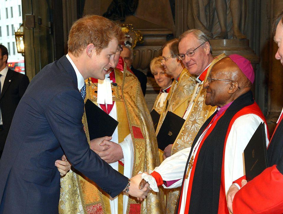 3. März 2014: Prinz Harry nimmt an einem Gedenkgottesdienst für Nelson Mandela in der Westminster Abbey in London teil.
