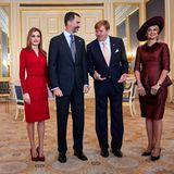 15. Oktober 2014: König Willem-Alexander und Königin Máxima empfangen Spaniens Königspaar in Den Haag.