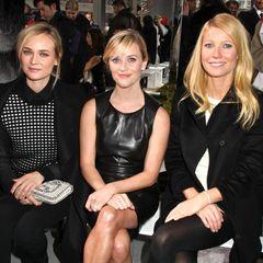 Die neue Herbst-Kollektion von Hugo Boss Womenswear lockt Hollywoods oberste Liga nach New York: Diane Kruger, Reese Witherspoon und Gwyneth Paltrow (v.l.)