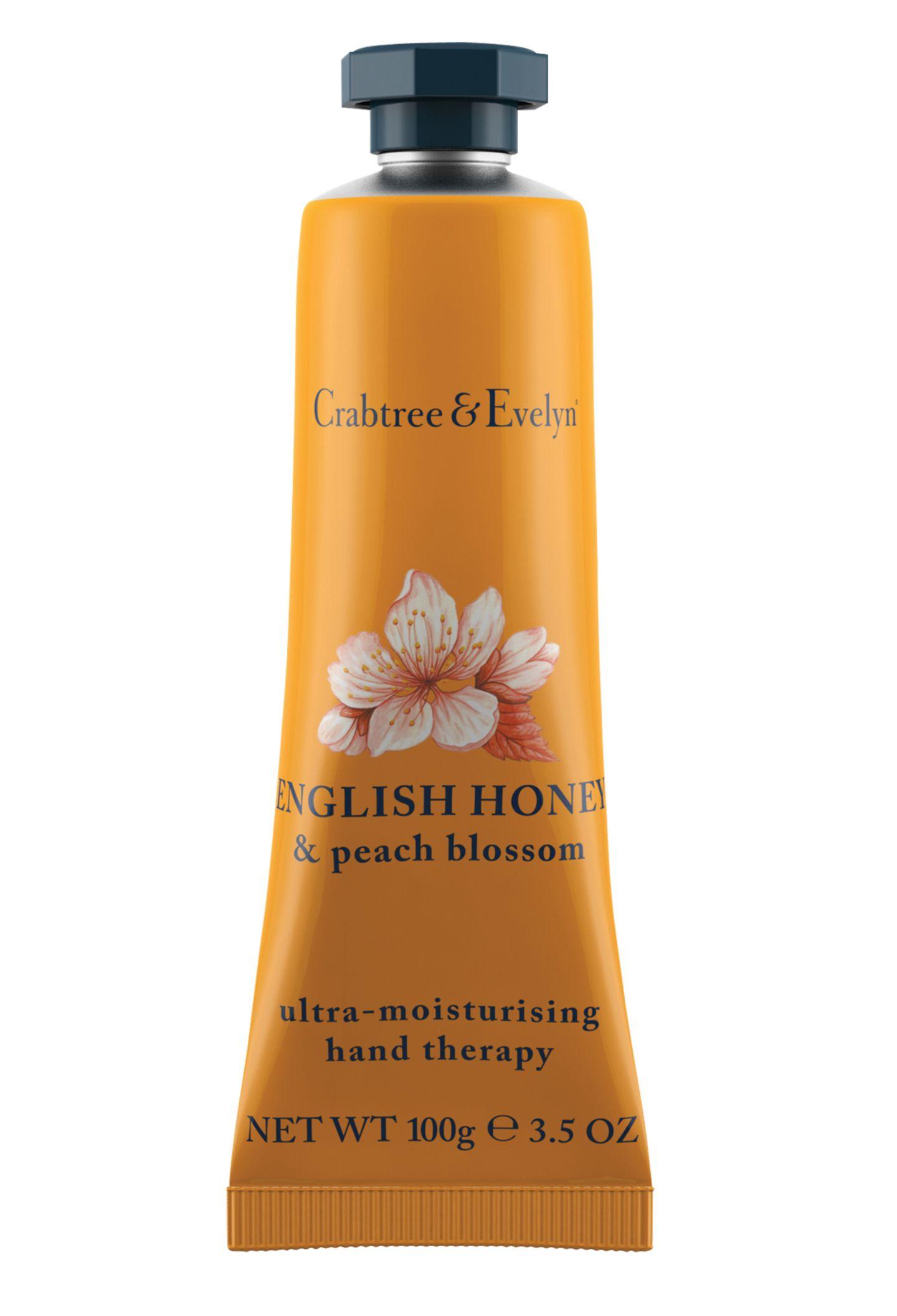 """Nährstoff für trockene Hände: die """"English Honey and Peach Blossom""""-Creme. Von Crabtree & Evelyn, 100 g, ca. 16 Euro"""