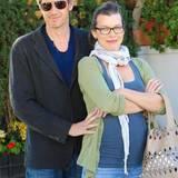 5. November 2014: Die schwangere Milla Jovovich und Paul Anderson kommen vom Lunch in Beverly Hills.