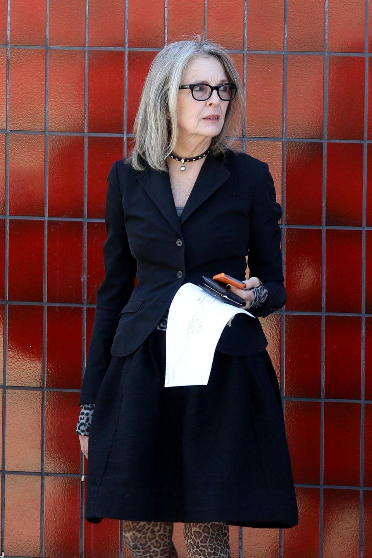 24. September: Diane Keaton kommt in Los Angeles von einem Arztbesuch.