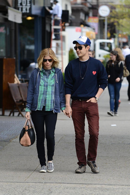 6. Mai 2014: Kate Mara und ihr Freund Max Minghella spazerien durch Nolita, ein Viertel in New York.
