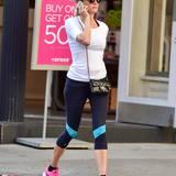 18. August 2014: Diane Kruger ist sportlich in Manhattan unterwegs.
