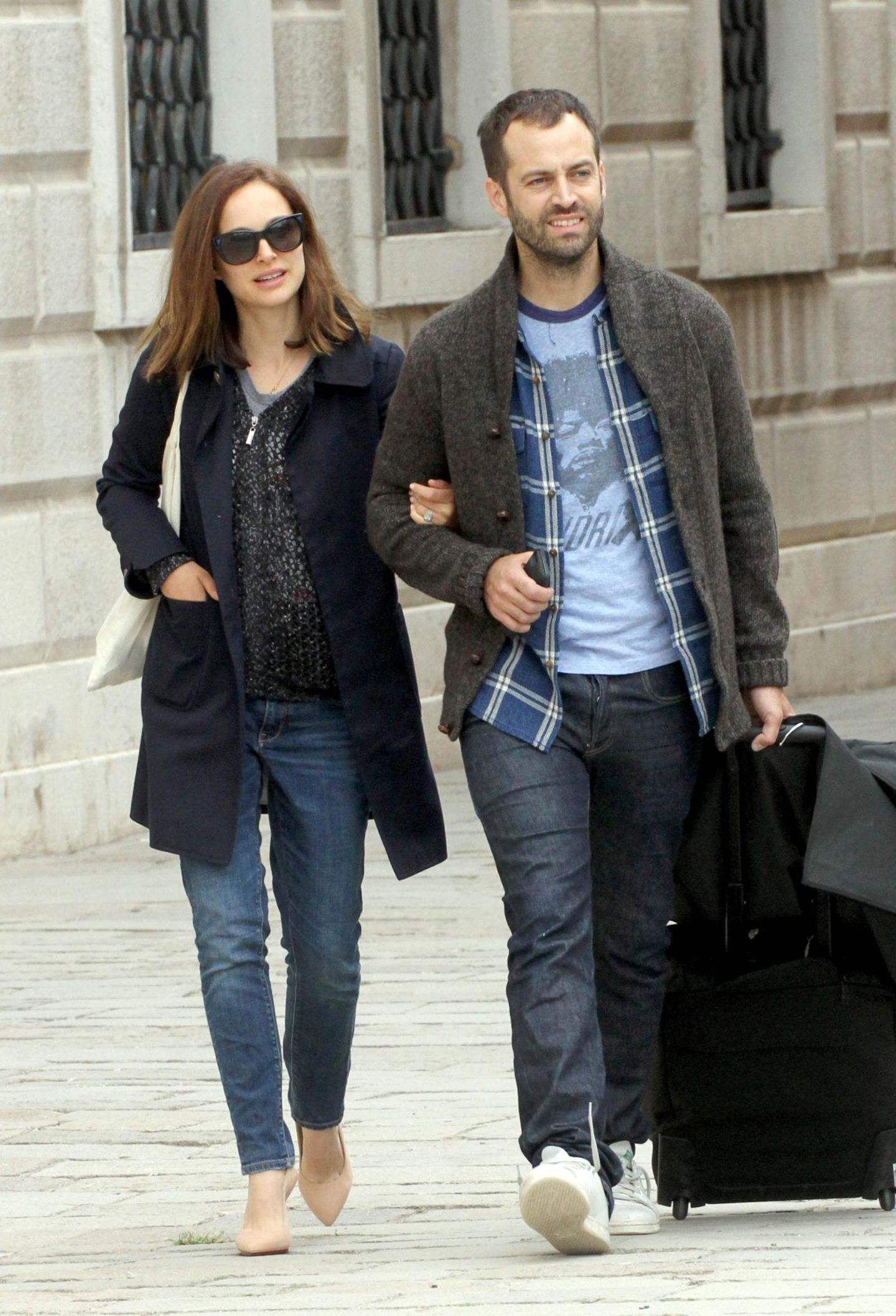 Natalie Portman und ihr Mann Benjamin Millepied schlendern durch Venedig.