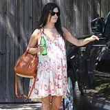 18. August 2014: Die schwangere Rachel Bilson ist in Los Angeles unterwegs.