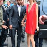"25. Juni 2014: Adam Levine und seine Verlobte Behati Prinsloo kommen zur Premiere von ""Begin Again"" in New York City."