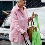 8. September 2014: Angela Lansbury geht in Brentwood einkaufen.