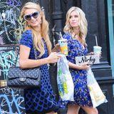 7. September 2014: Paris und Nicky Hilton holen sich im East Village in New York City Sandwiches und etwas zu Trinken.