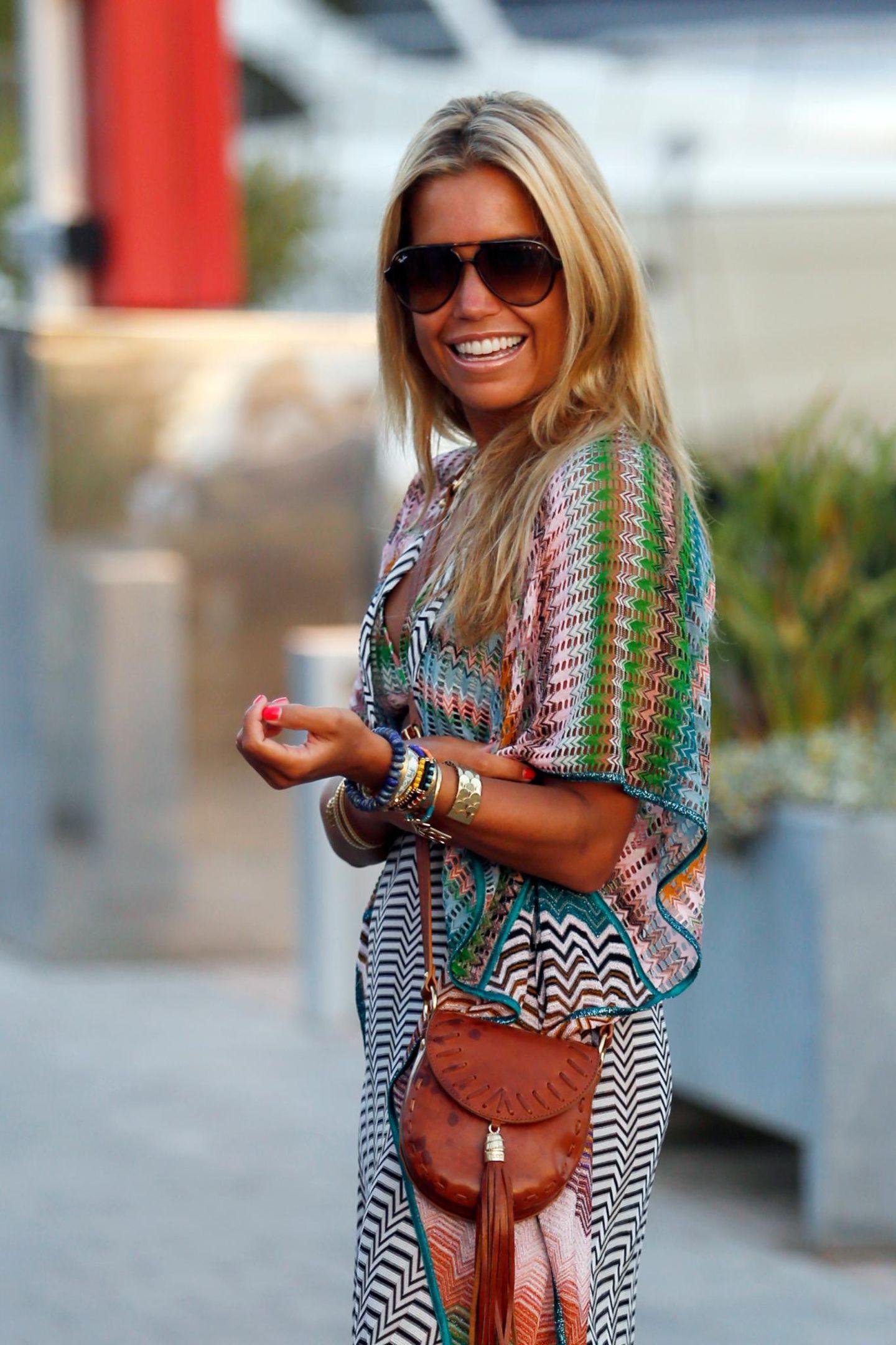 26. August 2014: Sylvie Meis genie?t ihren Urlaub auf Ibiza.