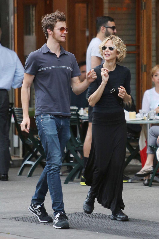 16. Juni 2014: Meg Ryan und ihr Sohn Jack kommen vom Mittagessen im Restaurant von Schwiegertochter Freda.