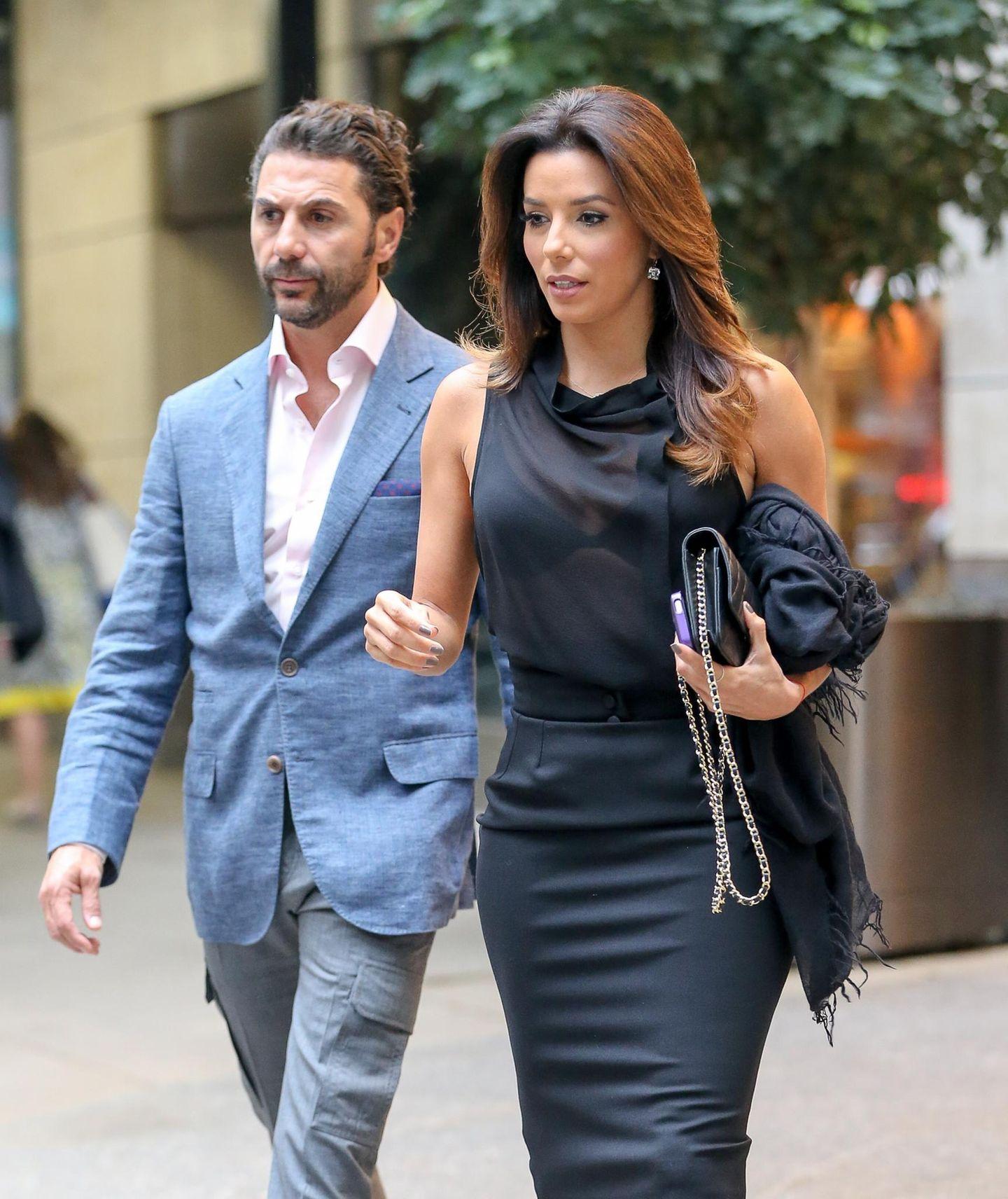8. September 2014: Eva Longoria und ihr Freund Jose Antonio Baston sind in New York unterwegs.