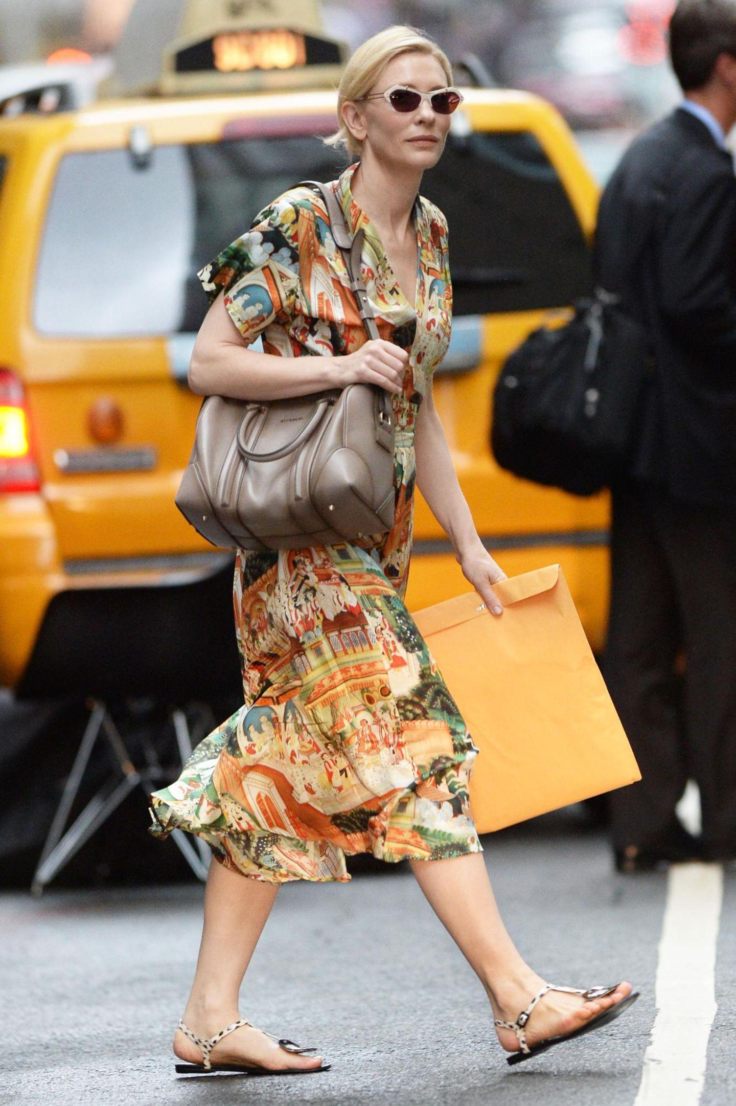 12. August 2014: Cate Blanchett ist in Manhattan auf dem Weg ins Theater.