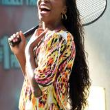 21. August 2014: Venus WIlliams schlägt vor den Fox Studios in Manhattan ein paar Bälle.