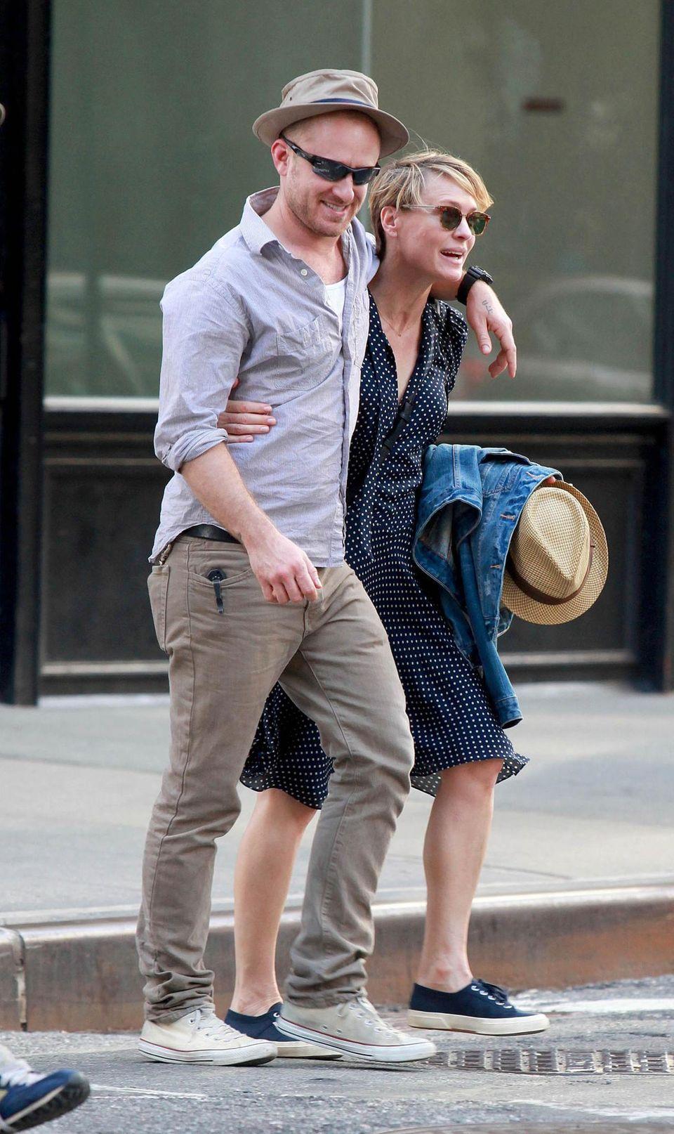 26. Mai 2014: Robin Wright und Ben Foster verbringen gut gelaunt einen Tag in New York City.
