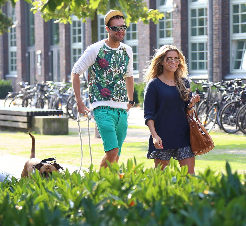 15. September 2014: Sylvie Meis und ihr guter Freund André Borchers treffen sich in Hamburg zum gemeinsamen Mittagessen.
