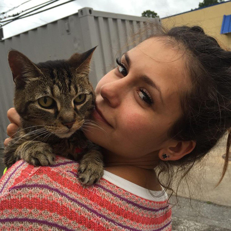 Nina Dobrev nimmt ihre Katze Lynx überall mit hin. Auch auf einen Roadtrip mit Freunden.