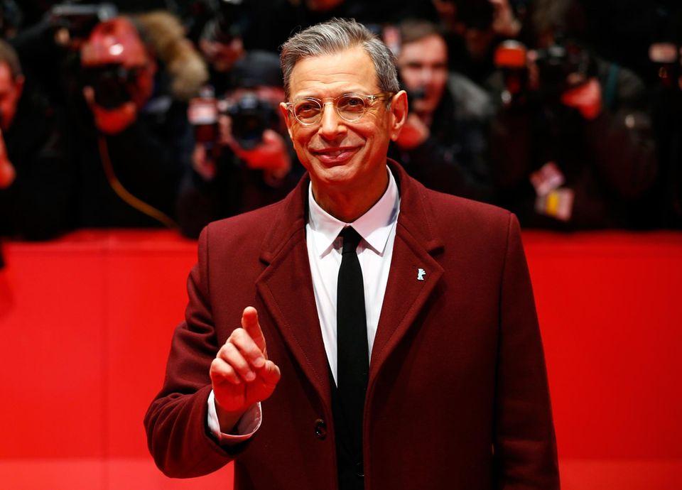 """Jeff Goldblum kommt zur Premiere des Films """"The Grand Budapest Hotel""""."""