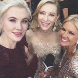 Ireland Baldwin macht ein Selfie mit ihrer Kollegin und Cate Blanchett.
