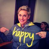 """Ellen DeGeneres freut sich in ihrer Garderobe auf die Oscars: """"I am happy""""."""